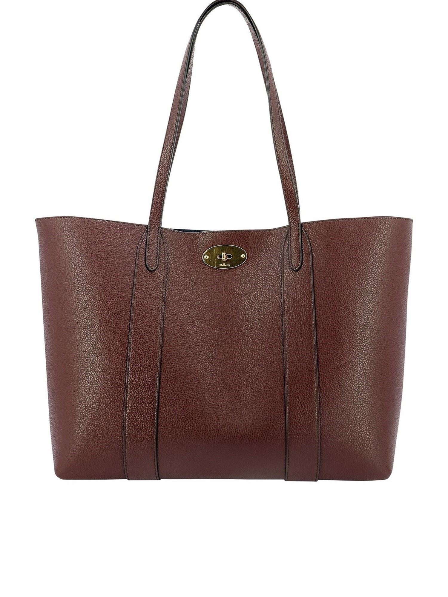 Mulberry BAYSWATER SMALL TOTE IN BURGUNDY COLOR