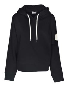 Moncler - Hoodie in black with logo patch