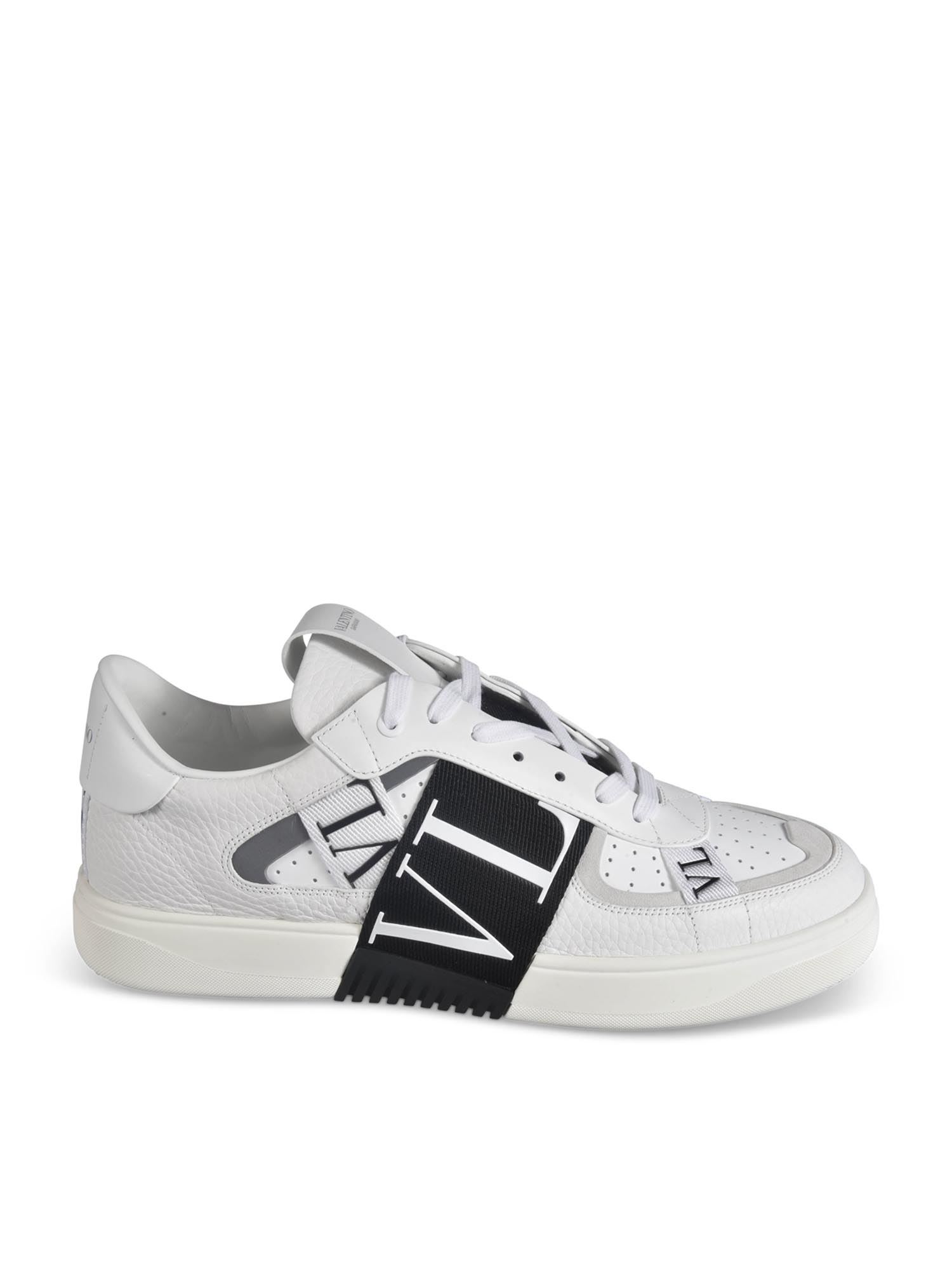 Valentino Leathers VL7N SNEAKERS IN WHITE