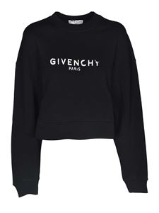 Givenchy - Logo print cropped sweatshirt in black