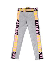 Stella McCartney Kids - Logo elastic leggings in melange grey