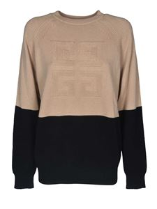 Givenchy - Raglan sleeves pullover in beige and black