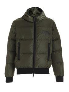 Dsquared2 - Logo down jacket in Army green