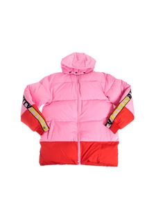 Stella McCartney Kids - Puffer jacket in pink and red