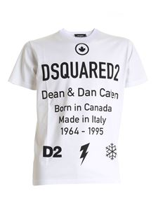 Dsquared2 - D2 Leaf short sleeve t-shirt in white