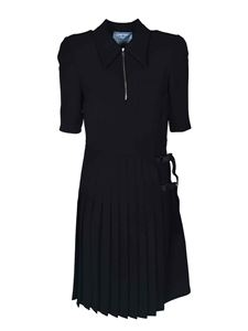 Prada - Dress in black with pleated skirt
