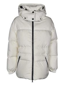 Moncler - Tiac down jacket in white featuring hood