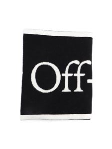 Off-White - Felt reversible scarf in black and white