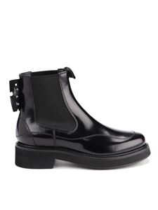 Off-White - Leather Chelsea ankle boots in black