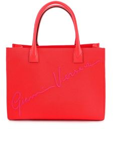 Versace - Canvas tote bag in red