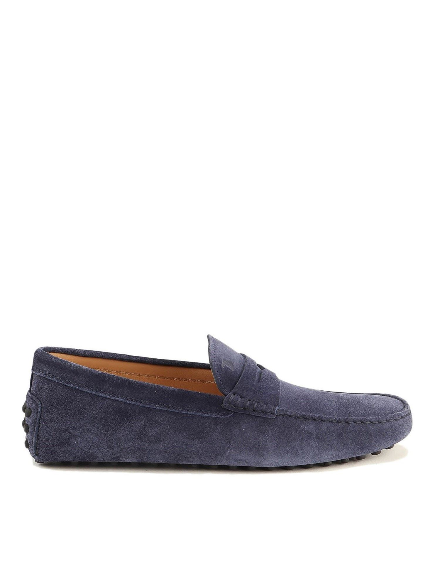 Tod's SUEDE DRIVING LOAFERS IN BLUE