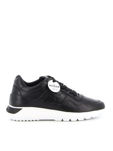 Hogan - Interactive³ leather sneakers in black