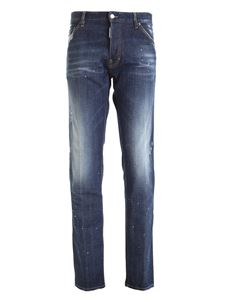 Dsquared2 - Destroyed effect jeans in blue