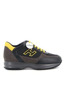Hogan - Interactive H Flock sneakers in black