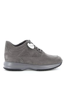 Hogan - Interactive nubuck sneakers in grey