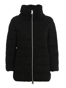 Herno - High collar cropped down jacket in black