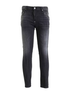 Dsquared2 - Faded effect 5-pocket jeans in grey