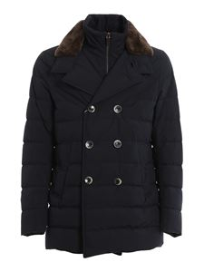 Herno - Double breasted down jacket in black