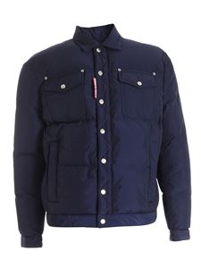Dsquared2 - Quilted jacket in blue
