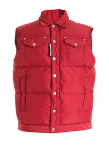 Dsquared2 - Quilted vest in red