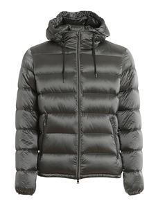 Herno - Tech fabric down jacket in grey