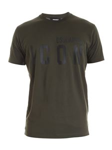 Dsquared2 - Icon logo T-shirt in army green
