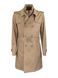 Herno - Trench impermeabile in cotone beige