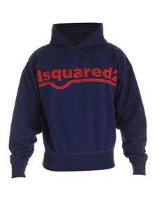 Dsquared2 - Sweatshirt in blue with logo lettering printed