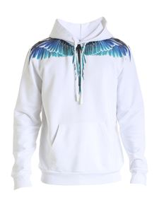 Marcelo Burlon County Of Milan - Hoodie in white with light blue Wings logo