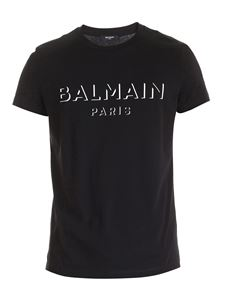 Balmain - 3D effect logo T-shirt in black