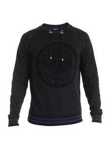 Balmain - Drawstring sweatshirt in black