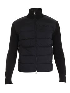 Moncler - Quilted cardigan in black