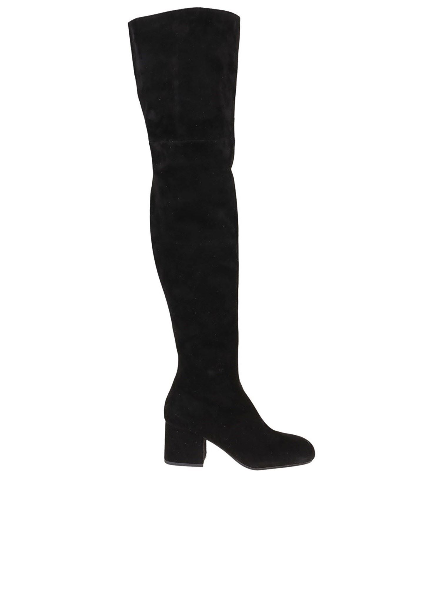 MARNI SUEDE BOOTS IN BLACK