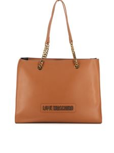 Love Moschino - Leather shoulder bag in tan color
