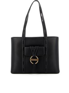 Love Moschino - Cut-out handles leather bag in black
