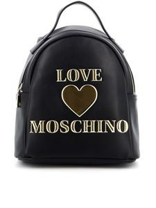 Love Moschino - Backpack in black with golden logo