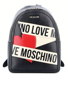 Love Moschino - Backpack in black featuring contrast logo