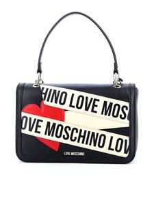 Love Moschino - Shoulder bag in black with front logo