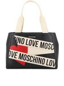 Love Moschino - Shoulder bag in black with contrasting logo