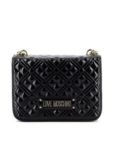 Love Moschino - Quilted flap bag in black