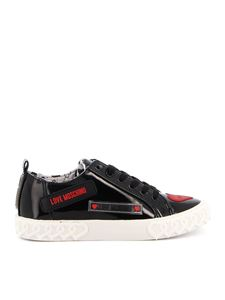 Love Moschino - Sneakers in black with red patch