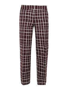Marni - Check pattern cotton blend pants in red
