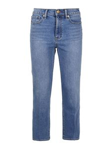 Tory Burch - Japanese denim cropped bootcut jeans