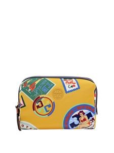 Tory Burch - Perry beauty case in yellow