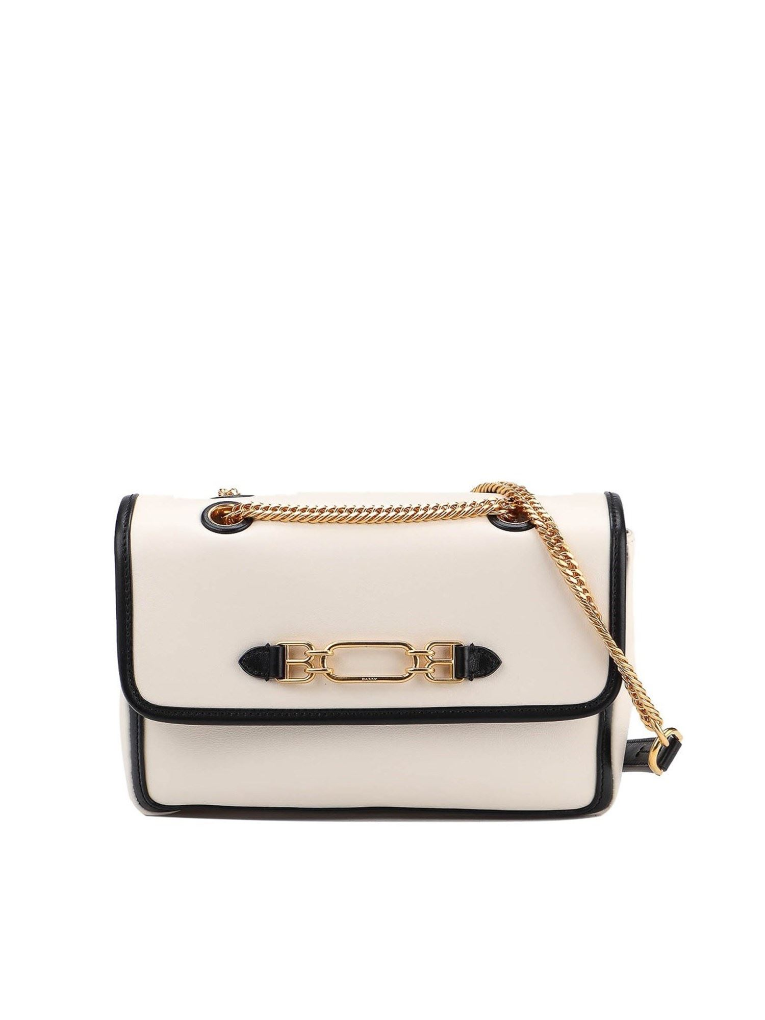 Bally VIVA SMALL SHOULDER BAG IN CREAM COLOR