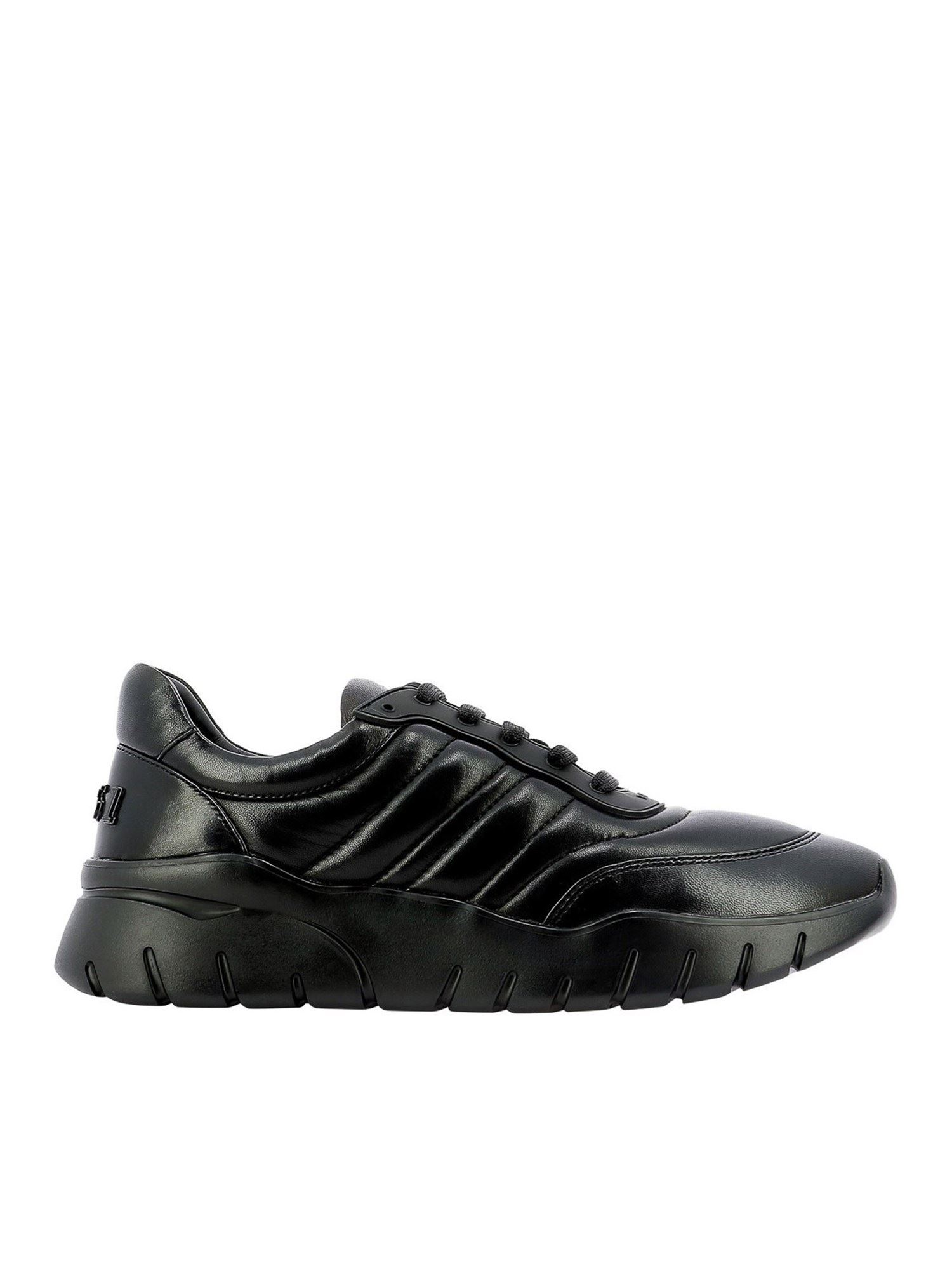 Bally BIKO LEATHER SNEAKERS IN BLACK
