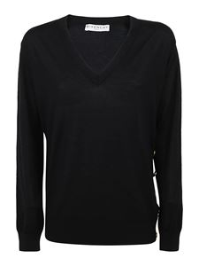 Givenchy - Golden button wool blend sweater in black