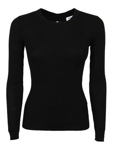 Parosh - Cut-out back ribbed sweater in black