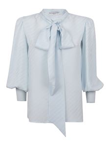 Givenchy - Tie-neck silk shirt in light blue