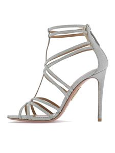 Aquazzura - Princess sandals in silver color
